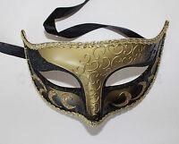 Black/Gold Venetian Masquerade Mask Party Prom Mardi Gras Halloween Costume