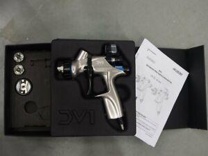 Devilbiss DV1 Basecoat Gun Demoex with 3 nozzles and digital pressure gauge