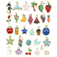 30Pcs/Set Mixed Enamel Charms Pendants  Craft DIY Jewelry Making Findings