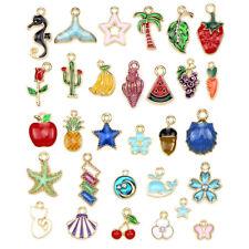 30Pcs/Set Mixed Enamel Charms Pendants  Craft DIY Jewelry Making Findings