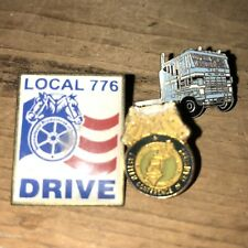 3 Vintage Teamsters Pins Local 776, Eastern Conference And Semi