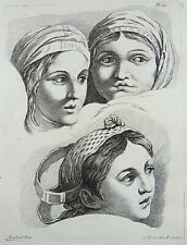 RAPHAEL (1483-1520); Poletvich - Female Study - fine engraving - 1755