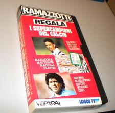 RAMAZZOTTI regala I SUPERCAMPIONI DEL CALCIO - Video Rai - VHS anni 90