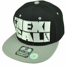Mexicali City Baja California Mexico Black Gray Hat Cap Snapback Flat Bill Gorra