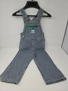 Vintage Liberty Hickory Striped Bib Overalls Railroad Toddler USA Made
