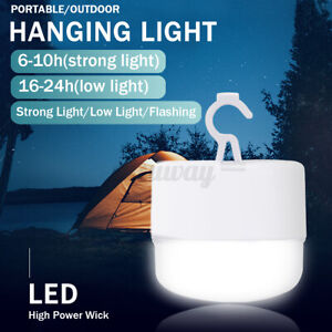LED Camping Tent Light Bulb Portable Outdoor Hanging Fishing Lantern Hiking Lamp