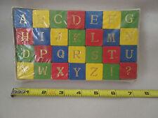"English Cube Alphabet 1"" Color Wood Dice Like Block's #104-845 Czechoslovakia"