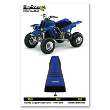 1987-2006 YAMAHA Banshee Black/Blue/Black RIBBED SEAT COVER BY Enjoy MFG