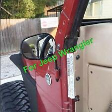 Driver Front Side Door Hinge View Mirrors Black Pair for 1987-2018 Jeep Wrangler