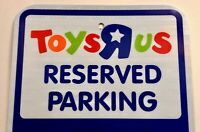 TOYS R US - Reserved Parking Sign - Expectant Mothers & Parents TOYSRUS Metal Ad