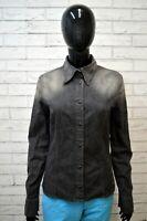 Camicia in Jeans Grigio Donna GAS Taglia L Maglia Polo Shirt Woman Manica Lunga