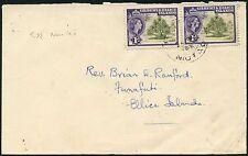 GILBERT + ELLICE ISLANDS NIUTAO INTER ISLAND COVER to FUNAFUTI 1959