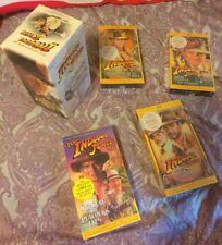 4 INDIANA JONES ADVENTURES OF HARRISON FORD GEORGE LUCAS VHS BOX SET RARE LOT