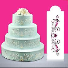 Lace Flower Border Edge Cake Stencil Decor Sugarcraft Fondant Baking Tool Pop US