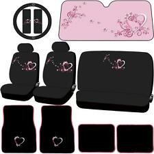 16 PC Spring Love Seat Covers Carpet Floor Mats Sunshade & Steering Cover set