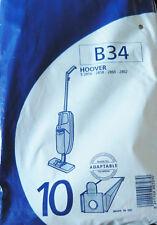 B34 MENALUX 10 sacs pour aspirateur HOOVER S2856 S2858 S2860 S2862
