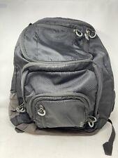 "Embark 19"" Black Jartop Jar Top Nylon Backpack School Work Bag Pockets!  EUC!"