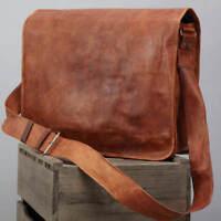 Mens Genuine Leather Vintage Laptop Messenger Handmade Briefcase Bag Satchel NEW