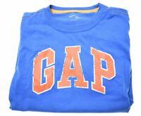 GAP Boys T-Shirt Top 10-11 Years Blue Cotton  LI20