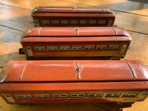 Lionel Set of 3 Brown Pullman Cars-6442(2) and 6443(1)