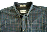Orvis Vintage Plaid Long Sleeve Shirt SIZE XL MULTICOLOR