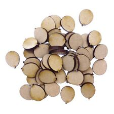 50 x Wooden Laser Cut MDF shapes Craft Blank Embellishments - Balloons 20mm