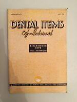 Dental Items Of Interest N° 5 A Monthly Giornale May 1938