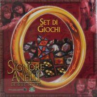 """GIOCO DI SOCIETA' - IL SIGNORE DEGLI ANELLI """"le due torri"""" - SET DI GIOCHI (4)"""