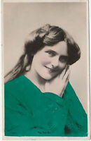 Vintage MISS MAIE ASH Tragic Stage Actress Colourised POSTCARD 1907 Posted