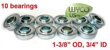 "Flanged Bearings 1-3/8""Odx3/4""Id ,10-Pack, Cub Cadet 384881-R93 J.Deere Am127304"