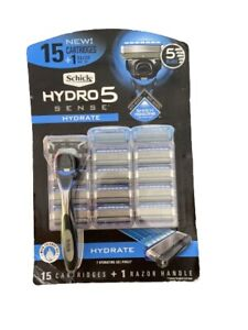 15 blades Schick Hydro 5 Hydrate Hydratant Sense Razor Blades Refill Cartridges