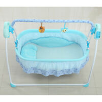 New Auto Swing Rocking Cot Sleeping Bed Electric Baby Crib Cradle+Timer Music