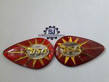 BSA BANTAM D7 C15 B40 A10 A50 A65 PETROL TANK BADGES 40-8014 40-8015