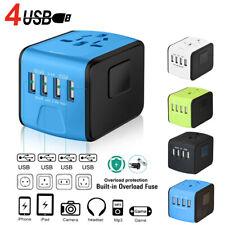 4USB Universal Power Adapter Wall Charger Socket Travel Plug Converter Worldwide