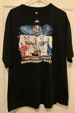 2009 Los Angeles Dodgers vs. Philidelphia Phillies NLCS Majestic Shirt Men's XL
