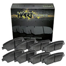 For 2004-2009 Cadillac SRX Hart Brakes Front Rear Ceramic Brake Pads