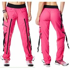 Authentic Zumba Wear Craveworthy Zip Back To The Fushia Cargo Pants ~ XS ~ NWTS