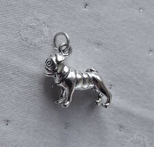 PUG DOG 3D CHARM 925 STERLING SILVER