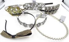 New 6 Piece Fancy Rhinestone Headband Lot NWT $65 Retail Value #6HB1