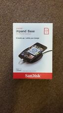 NEW SEALED!! SanDisk iXpand Base 128GB For iPhone Backup Fast Charge (SDIB20N)