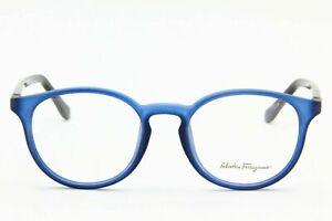 Salvatore Ferragamo SF2724 454 Frosted Blue Plastic Eyeglasses Round 50-19-140
