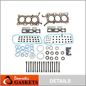 Head Gasket Set Bolts Fit 07-09 Ford Edge Lincoln MKZ  Mazda CX-9 V6 DOHC 3.5L