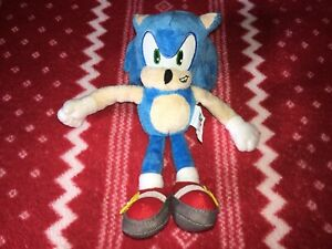 "Official Jazwares 7"" SONIC THE HEDGEHOG Sonic Plush Toy Doll 2009 LIGHT BLUE"
