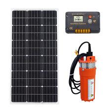 Panel solar De100w con bomba de agua kit de sistema de cc controlador para riego