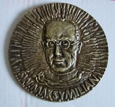 JEWS JEWISH Kolbe AUSCHWITZ  death CONCENTRATION CAMP POLISH POLAND medal HUGE