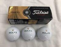Rolex Titleist Pro V1 Golf Balls X 3 Brand New