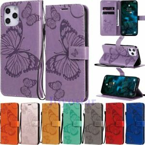 For iPhone 12 Pro Max Mini 11 XR SE 6s 8 Magnetic Flip Wallet Leather Case Cover