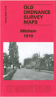 OLD ORDNANCE SURVEY MAP MITCHAM 1910 UPPER GREEN WANDLE GROVE BLUE HOUSES