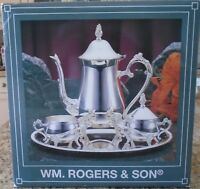 Wm. Rogers and Son Silver Plated 4 piece Coffee Set New In Box