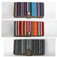 Womens Wallet Boho Hippie Vegan Gypsy Handmade Funky Eco aztec coin money purse
